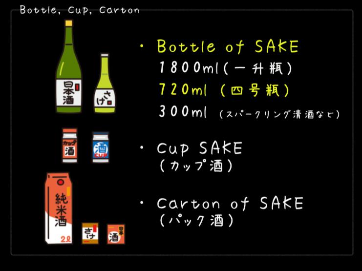 容器別の日本酒について