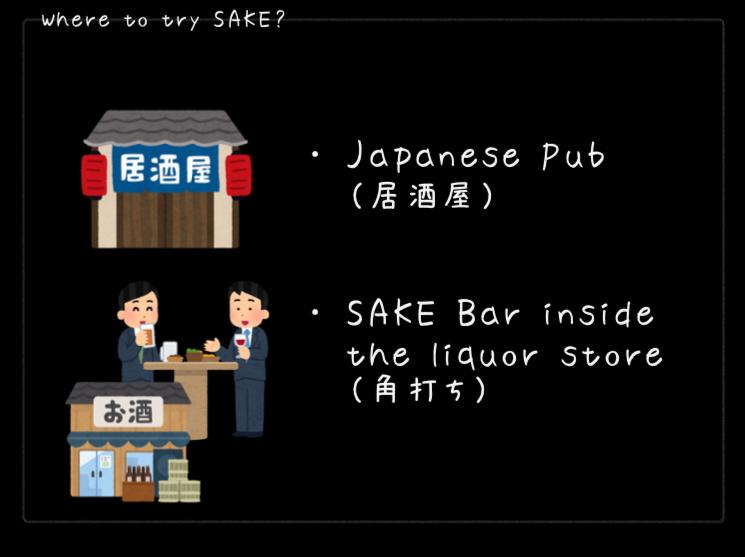 日本酒が飲めるところについて