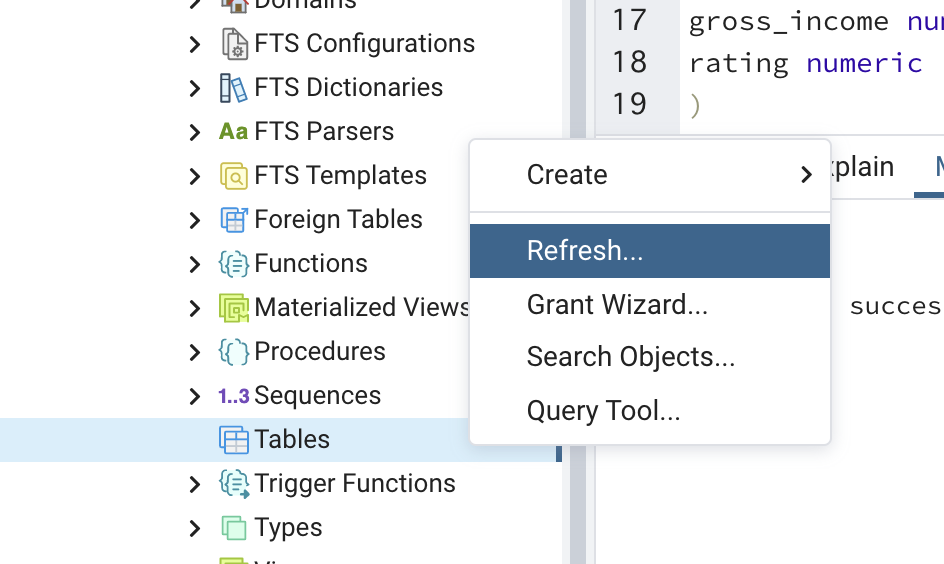 新しいテーブルを作成_テーブルを更新